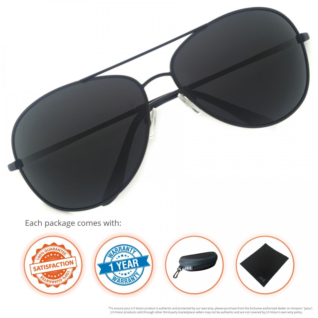 Classic Aviator Sunglasses  j s premium military style classic aviator sunglasses polarized