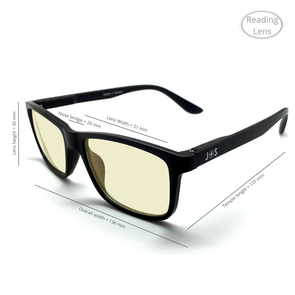 J+S Vision Blue Light Shield Computer/iPad Reading Glasses ...