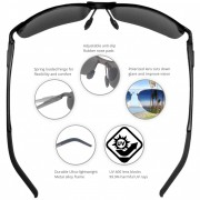 Rimless – BFBL – 2 – Main Pic with high lights, nose, hinge, tip, polarized, UV