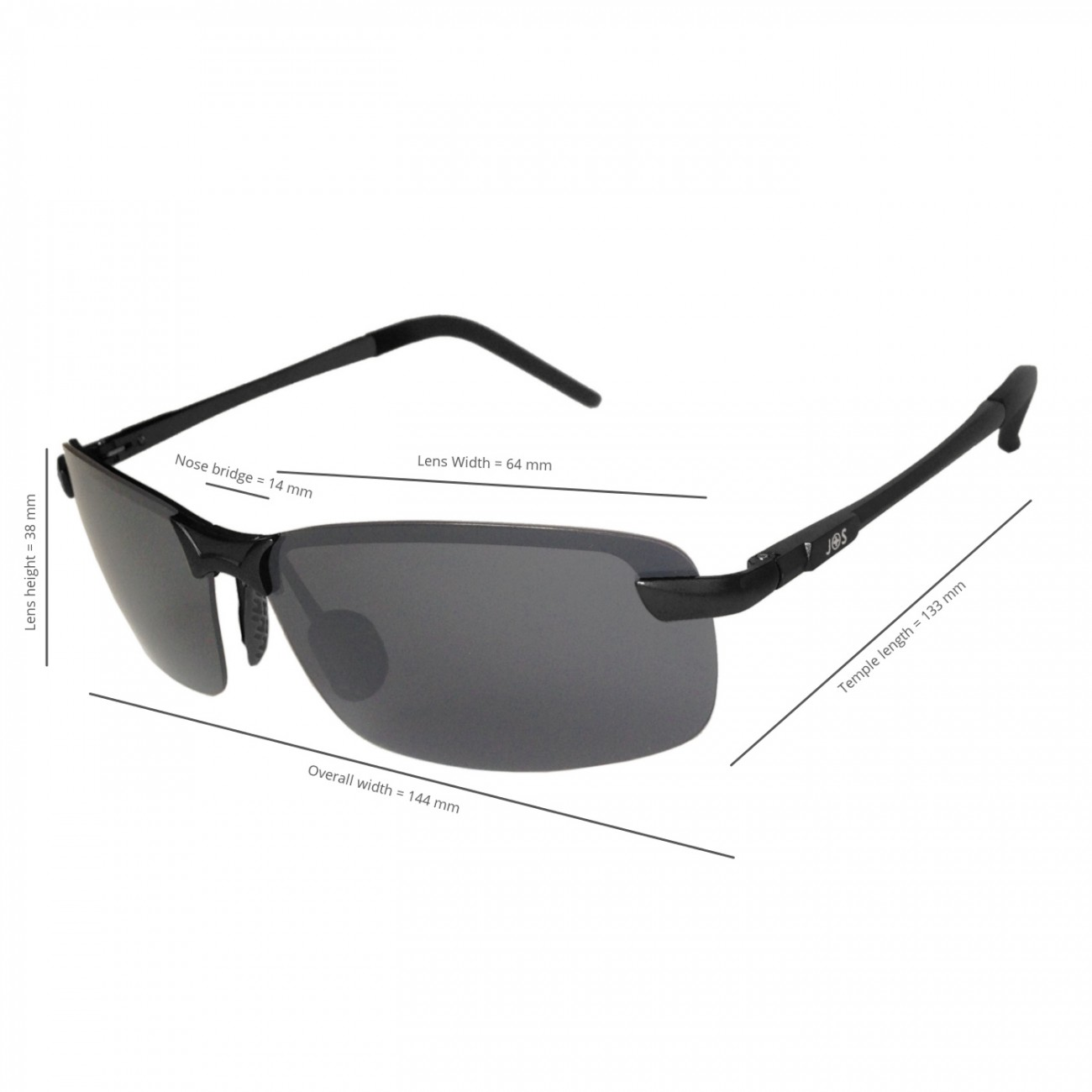 Sunglasses With Nose Protection  j s ultra lightweight men s rimless sports sunglasses polarized