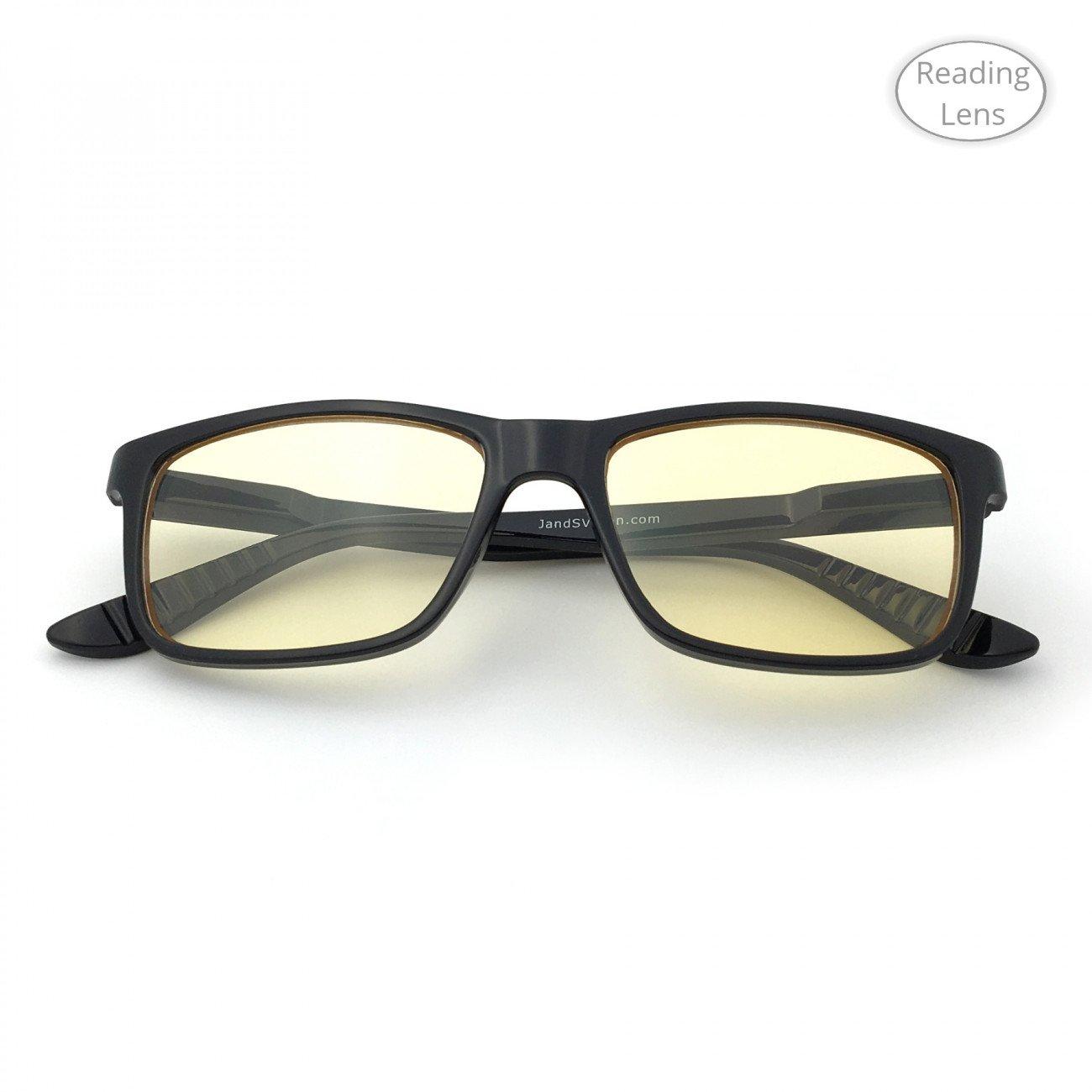 ef52ebb2bb39 Blue Light Shield Computer Tablet Reading Glasses – Classic Rectangle Frame