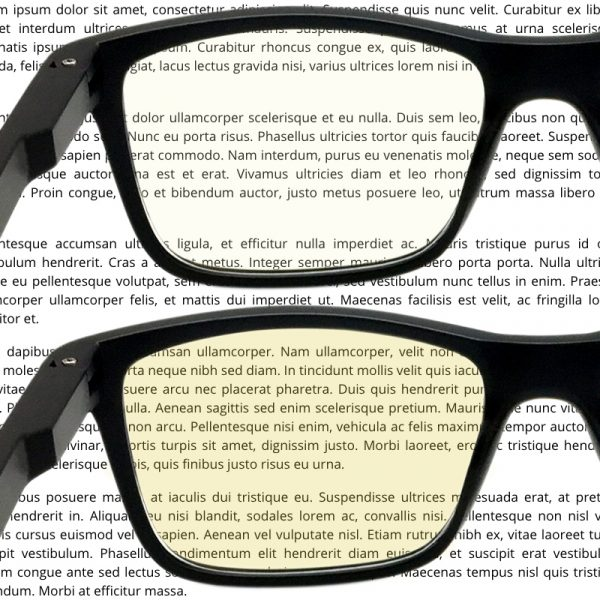 Computer glasses lens compare (LDC vs HD)