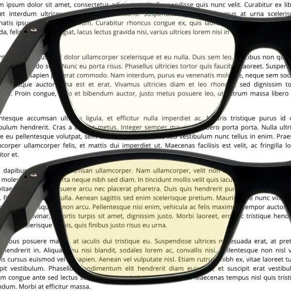 Computer glasses lens compare (LDC vs HD)